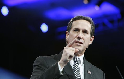 Former U.S. Senator Rick Santorum (R-PA) speaks to the Conservative Political Action Conference (CPAC) in National Harbor, Maryland, March 1