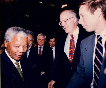 Fred Upton with Nelson Mandela