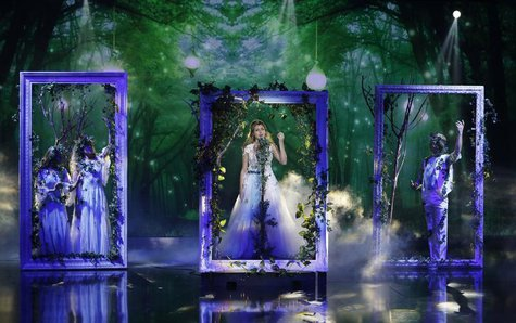 "Contestant Jennifer Grout of the U.S. performs during the Season 3 finale of ""Arabs Got Talent"" in Zouk Mosbeh area, north of Beirut Decembe"