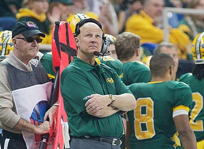 NDSU Head Coach Craig Bohl on the sidelines in 2013.