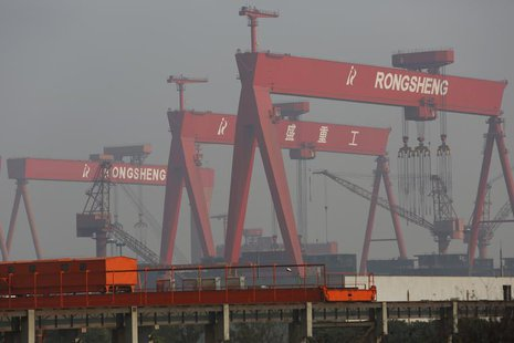 A view of the Rongsheng Heavy Industries shipyard is seen in Nantong, Jiangsu province December 4, 2013. REUTERS/Aly Song