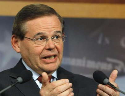 Senator Robert Menendez (D-NJ) speaks at a news conference on comprehensive immigration reform at the U.S. Capitol in Washington January 28,