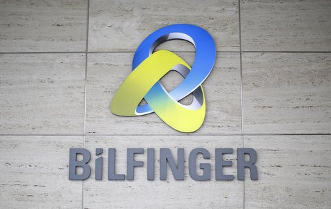 The logo of German industrial services provider Bilfinger is pictured on their headquarters in Mannheim January 21, 2013. REUTERS/Lisi Niesn