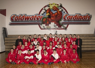 2013-2014 Coldwater High School wrestling team