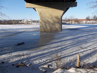 Guns found on the ice of Wisconsin River under bridge  Photo: Wausau Police Dept.