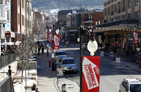 Main Street is pictured during the Sundance Film Festival in Park City, Utah January 22, 2013. REUTERS/Mario Anzuoni