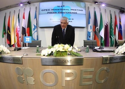 Organization of the Petroleum Exporting Countries (OPEC) Secretary General Abdullah al-Badri arrives for a news conference following a meeti
