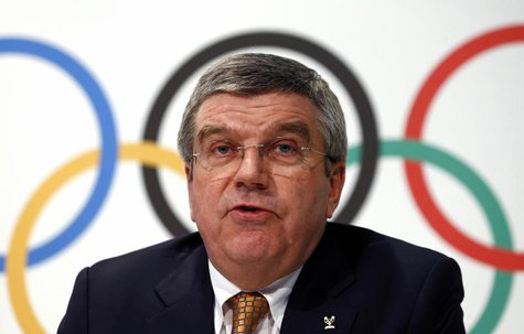 International Olympic Committee (IOC) President Thomas Bach attends a news conference at the IOC headquarters in Lausanne December 10, 2013.