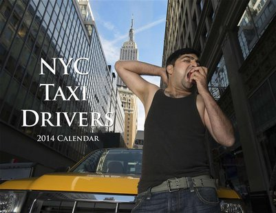 A taxi driver named Yasar poses for the NYC Taxi Drivers 2014 Calendar in this handout received December 10, 2013. REUTERS/Shannon McLaughli