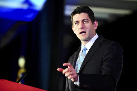 Representative Paul Ryan (R-WI) attends the Faith and Freedom Coalition Road to Majority Conference in Washington, in this June 14, 2013, fi
