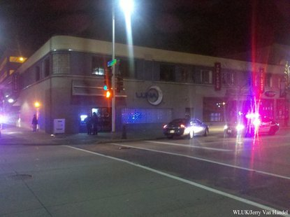 Police respond to a shooting at Luna Lounge in Appleton on Sunday, Dec. 8, 2013. (Photo from FOX 11).