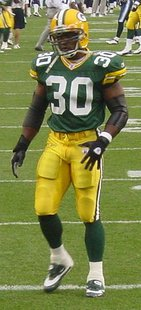 Ahman Green Green Bay Packers.  Photo Credit Jeramey Jannene (Grassferry49 at en.wikipedia)