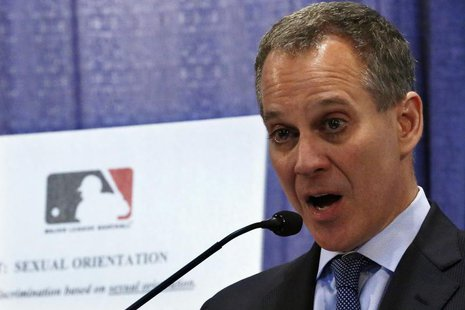 New York Attorney General Eric Schneiderman talks about Major League Baseball's policies against harassment and discrimination based on sexu