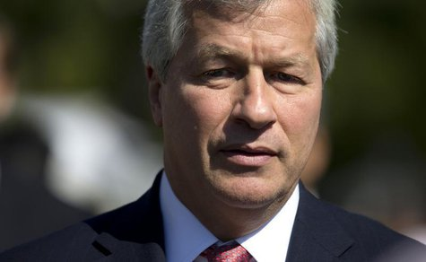 Jamie Dimon, chairman and CEO of JP Morgan Chase, arrives at the White House in Washington, October 2, 2013, for a meeting of the Financial