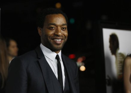 "Cast member Chiwetel Ejiofor poses at a special screening of ""12 Years a Slave"" at the Directors Guild of America in Los Angeles, California"
