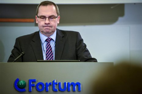 Fortum's president and CEO Tapio Kuula, addresses a news conference at the headquarters of the company in Espoo December 12, 2013. REUTERS/A