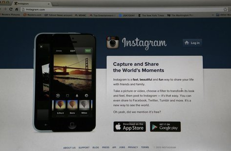 An Instagram login page is pictured on a laptop screen in Pasadena, California August 14, 2013. REUTERS/Mario Anzuoni