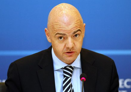 UEFA general secretary Gianni Infantino attends a news conference during the UEFA Executive Committee meeting in Istanbul March 21, 2012. RE