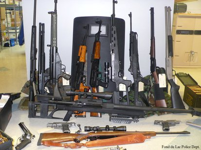 Weapons recovered after a Dec. 9, 2013 standoff in Fond du Lac. (Photo from: Fond du Lac Police Department)