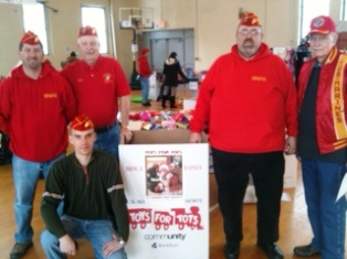 Marine Corps League members at Toys for Tots distribution December 13, 2013