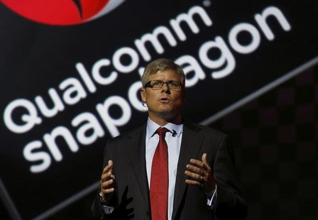 Qualcomm Chief Operating Officer Steve Mollenkopf speaks at the LG G2 smart presentation in New York August 7, 2013. REUTERS/Brendan McDermi