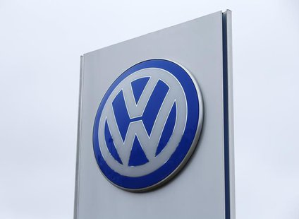 A Volkswagen sign is seen at a Volkswagen dealership in Carlsbad, California, April 29, 2013. REUTERS/Mike Blake