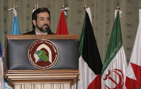 Iran's deputy foreign minister for legal and international affairs Abbas Araghchi speaks during a news conference in Baghdad March 10, 2007.