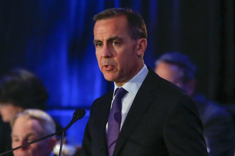 Bank of England Governor Mark Carney speaks at the Economic Club of New York luncheon in New York, December 9, 2013. REUTERS/Shannon Staplet