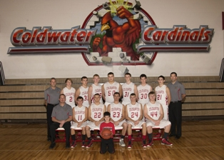 2013-2014 Coldwater boys varsity basketball team