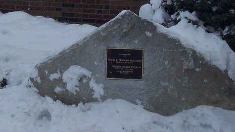 The Memorial sits near the entrance to the Interfaith Community Center