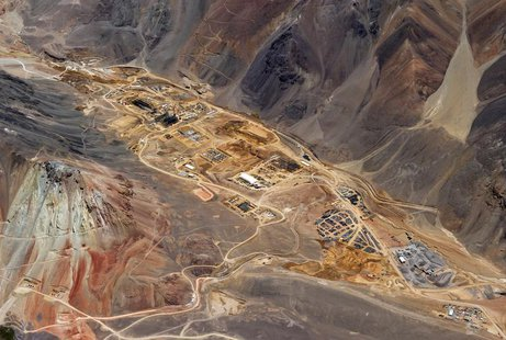 The gold processing plant under construction in Argentina, at Barrick Gold's Pascua-Lama mine site is pictured in this February 2, 2012 hand