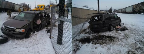12-14-2013 car train accident photo provided by Vigo County Sheriffs Dept