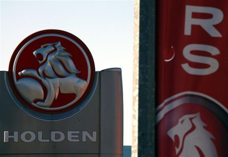 A Holden logo is displayed at a dealership located in the Western Australian city of Perth in this December 12, 2013 file photo. REUTERS/Dav