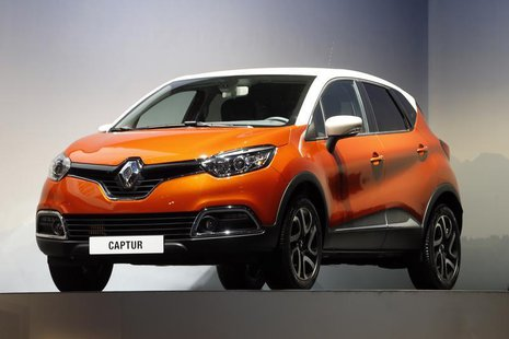 A Renault Captur car is displayed during the company's annual shareholder meeting in Paris April 30, 2013. REUTERS/Charles Platiau