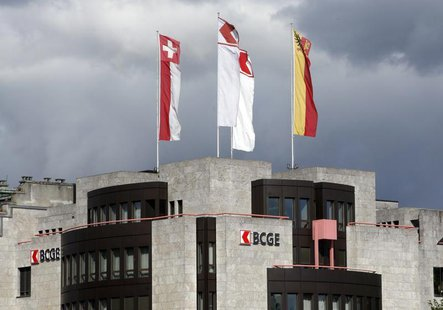 The building of Banque Cantonale de Geneve (BCGE) is pictured in Geneva August 8, 2008. REUTERS/Denis Balibouse