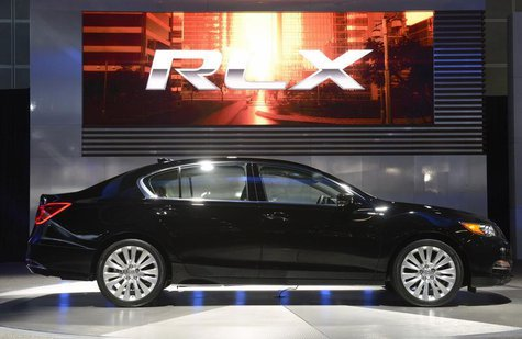 The 2014 Acura RLX is unveiled during a news conference at the 2012 Los Angeles Auto Show in Los Angeles, California November 28, 2012. REUT