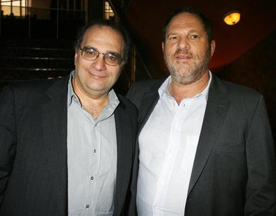Bob Weinstein (L) and his brother Harvey Weinstein, the founders of The Weinstein Co., an independent motion picture studio, pose at the pre