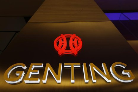 The logo of Genting Malaysia Berhad is seen at Genting Highlands at the state of Pahang outside Kuala Lumpur December 17, 2013. REUTERS/Sams