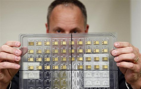 Craig Healy, the U.S. government's chief law enforcement officer for counter-proliferation, displays a set of confiscated American-made radi