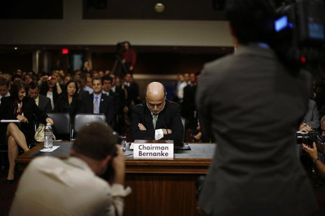 U.S. Federal Reserve Chairman Ben Bernanke is pictured before his testimony at a Joint Economic Committee hearing on economic outlook and po