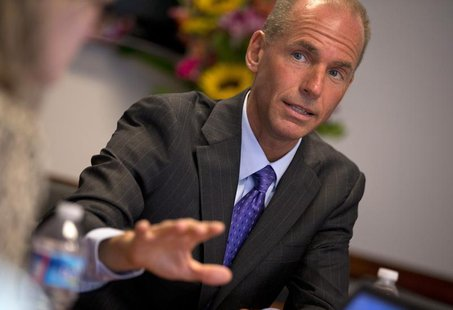 Boeing Defense, Space and Security CEO Dennis Muilenburg is pictured at the Reuters Aerospace and Defense Summit in Washington, September 3,