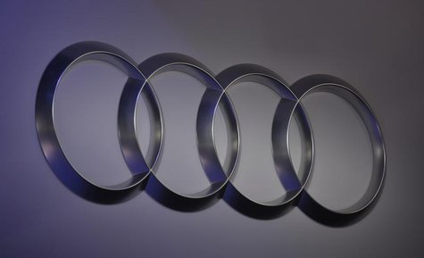 The Audi logo is shown at the North American International Auto Show in Detroit, Michigan January 14, 2013. REUTERS/Rebecca Cook