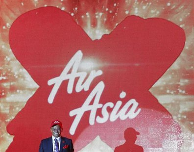Azran Osman-Rani, chief executive officer of long-haul carrier AirAsia X, smiles during the launch of the company's prospectus in Kuala Lump