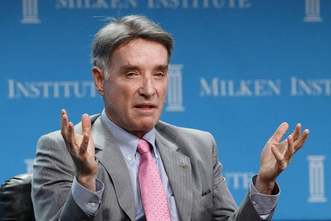 Eike Batista, Chairman and CEO of EBX Group speaks at a dinner panel discussion at the Milken Institute Global Conference in Beverly Hills,