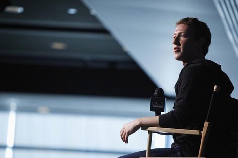 Facebook CEO Mark Zuckerberg sits for audience questions in an onstage interview for the Atlantic Magazine in Washington, September 18, 2013