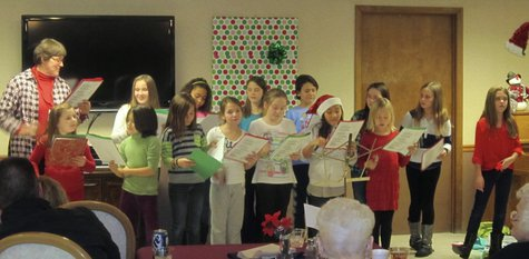 "Wilson Elementary School's ""Above the Influence"" club performs at Meadow View Manor Nursing Home."