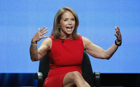 "Host Katie Couric speaks at a panel for ""Katie"" during the Disney/ABC Television Group portion of the Television Critics Association Summer"