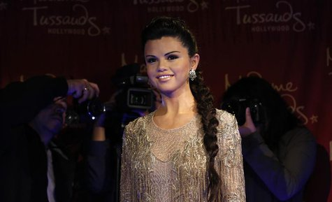 The wax figure of singer and actress Selena Gomez is pictured after it was unveiled at Madame Tussauds museum in Hollywood, California Decem