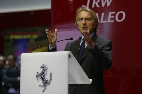 Ferrari Chairman Luca di Montezemolo speaks during a media preview day at the Frankfurt Motor Show (IAA) September 10, 2013. REUTERS/Wolfgan