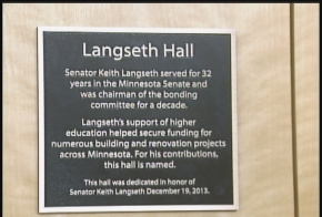 Langseth Hall Plaque